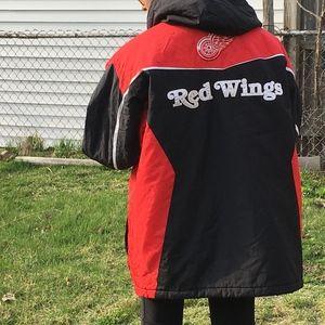 VTG Detroit Red Wings Coat G III Carl Banks XL